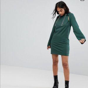 Hooded mini sweat dress